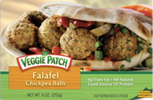 1 serving is 4 falafel balls, doesn't it look good?