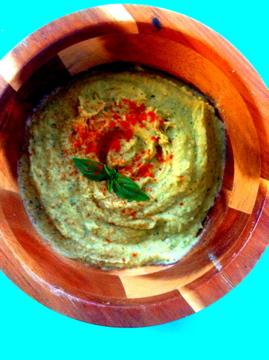 Basil Artichoke Hummus